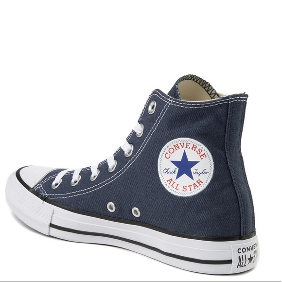 Converse Shoes Monogram High Top All Star Blue Poshmark